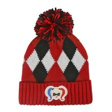 OFFICIALLY LICENSED DC COMICS HARLEY QUINN KNITTED BOBBLE HAT BEANIE