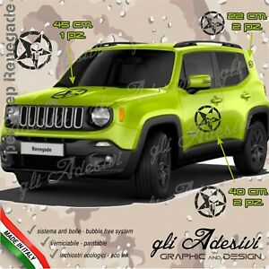 Set 5 Adhesives Sticker Jeep Renegade Stella Punisher Bonnet Door Mount