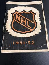 1951-52 NHL Press And Radio Guide - Vintage