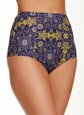 Skivvies For Love Lemons Geneva Women's Gold High Waist Bikini Bottom Sz L 3620
