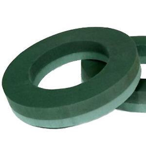 "OASIS Rings WREATH 12"" TWIN PACK Wet FLORAL FOAM 2 item"