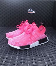 Adidas NMD R1 Primeknit Women's Running Shoes Solar Pink AQ1104 Size 5.5