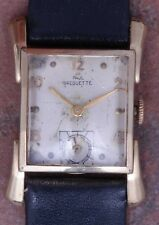 Paul Breguette 40s Vintage Art Deco Curved GF Case Running 17j FE 170 New Band