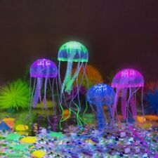 8X Glowing Effect Aquarium FLOATING JELLYFISH Jelly Fish Tank Ornament Decor