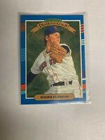 1991 Donruss Roger Clemens Boston Red Sox #9 Baseball Card