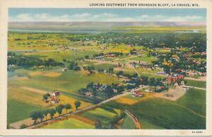 LA CROSSE WI - Looking Southwest from Grandads Bluff