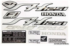 Full set of reflective decal sticker badge logo for Honda SH125 SH125i in Silver