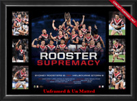 Sydney Roosters 2018 NRL Premiers Supremacy Tribute UNFRAMED - Official NRL