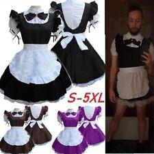 Lolita Maid Dress Halloween Women Men Cosplay Uniform Fancy Costume Plus Size