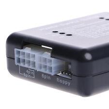 PC 20 / 24 Pin Connector PSU ATX SATA HD Power Supply Tester Black
