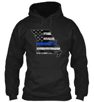 Missouri Thin Blue Line Gildan Hoodie Sweatshirt