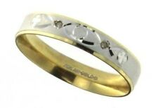 10k Gold Two Tone Wedding Band, 2.4 grams , Size 8