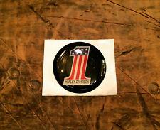 Nos Harley Brake Caliper Insert Amf #1 Medallion Badge Decal Emblem Vintage Blac