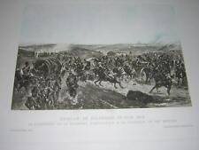 1887. héliogravure couleurs bataille Solferino.Italie