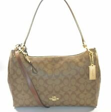 COACH F28967 IME74 KHAKI/SADDLE 2 SIGNATURE MIA LADIES SHOULDER BAG