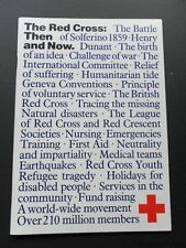 The Red Cross:Then & Now-Short History-Richard Cavendish-1984-1st-Medical-Fine