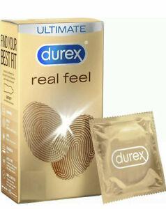 12x Durex Real Feel Condoms non-latex,non-allergic, easy-on *Retail Boxed*