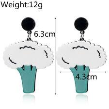 Elegance  Women Cauliflower Earring Acrylic Drop Dangle Stud Earring Jewelry