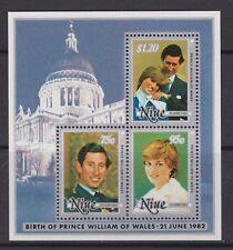 1982 Royal Wedding Charles & Diana MNH Stamp Sheet Niue Opt William Birth