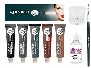 Apraise Professional Eyelash & Eyebrow Tint Dye 20ml & Accessories UK Fast Post*