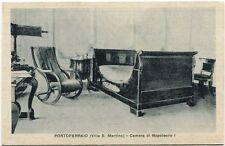 Primi '900 Portoferraio villa S. Martino camera Napoleone I sedia dondolo FP B/N