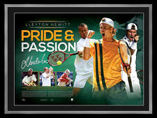 Lleyton Hewitt Signed Official Tennis Australia Print Framed - Pride & Passion
