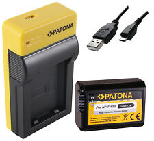Akku NP-FW50 + USB Ladegerät für Sony ILCE QX1 Alpha 5000 5100 6000 6300 7