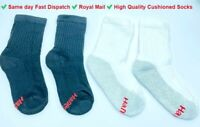 12x Hanes Boys Girls Sports Crew Cushioned Socks Children's School Wear Lot