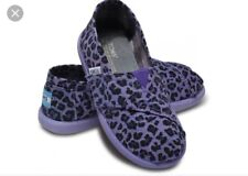 Toms shoes BNIB NEW Authentic Tiny Purple Leopard Toddler Size 10