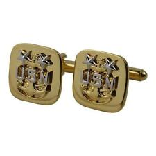 Usn Navy Cuff Links Gold E9 Master Chief Petty Officer Cpo New (Made in Usa)