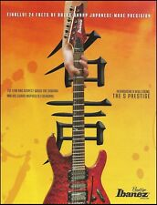 The 2008 Ibanez S Prestige Series 24 fret guitar ad 8 x 11 advertisement print