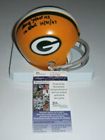 PACKERS Doug Hart signed mini helmet w/ ICE BOWL 12/31/67 JSA COA AUTO Autograph