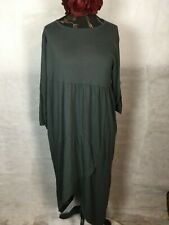 WRAP OVER JERSEY DRESS  HIPPY BOHEMIAN, QUIRKY, LAGENLOOK. PLUS SIZES RRP95