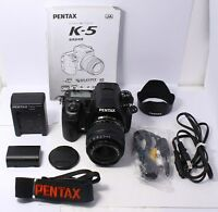 EXC+++ PENTAX K-5 16.3 MP Digital SLR Camera w/ DA 18-55mm Lens Kit From Japan