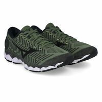 Mizuno Mens Waveknit S1 Running Shoes Trainers Sneakers Green Sports Breathable