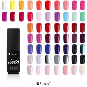 SILCARE Gel LED/UV 10x Hybrid FLEXY Nail Polish Colors 2021 SOAK OFF