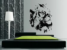 LIONS HEAD Wall Art Quality Vinyl Stickers Decals - also for glass surfaces
