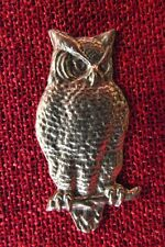 Owl Celtic Brooch Wise SCA Pagan LARP Wiccan Mystic Magic Medieval Silver Pewter