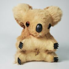"""Vintage Musical Wind Up Koala Stuffed Animal Kangaroo Fur Australia 4.5"""" Tall"""