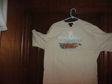 Van Heusen t-shirt short sleeve beige CRUISE CONTROL size small NWT in BAG