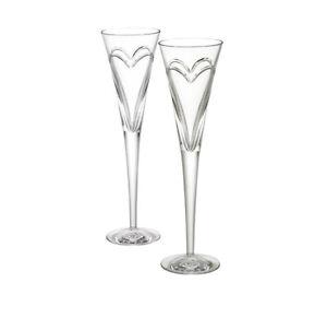 Waterford Stemware Love & Romance Toasting Set Of 2 Flutes $135.