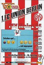 Neues AngebotProgramm 1. FC Union Berlin - FSV Mainz 05 vom 27.05.2020 - Geisterspiel 2019/20