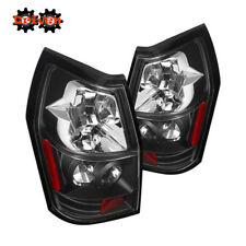 Rear Altezza Tail Light  Clear Lens Black Housing Red  05-08 Dodge Magnum