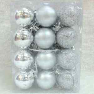2021 All Decoration Silver Lucky bauble 2cm  4/Pk
