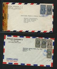 Costa 2 airmail covers one censored At0605