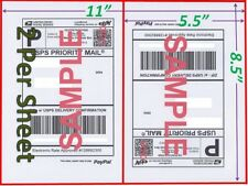 6000 Shipping Blank Labels 85x55 Paypal Self Adhesive