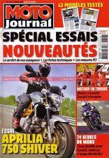 MOTO JOURNAL 1758 APRILIA SL 750 Shiver ; MORINI 9½ ; 24 Heures du Mans 2007