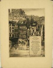 Eau forte, Menu, Dîner de l'U.S.A., 2 déc. 1922