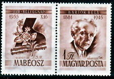HUNGARY - 1955. Composer Béla Bartók with Left Label - MNH