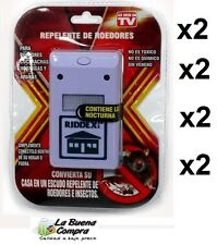 2X RIDDEX REPELENTE ANTI ROEDORES E INSECTOS ENCHUFE ANTI INSECTOS Y MOSQUITOS